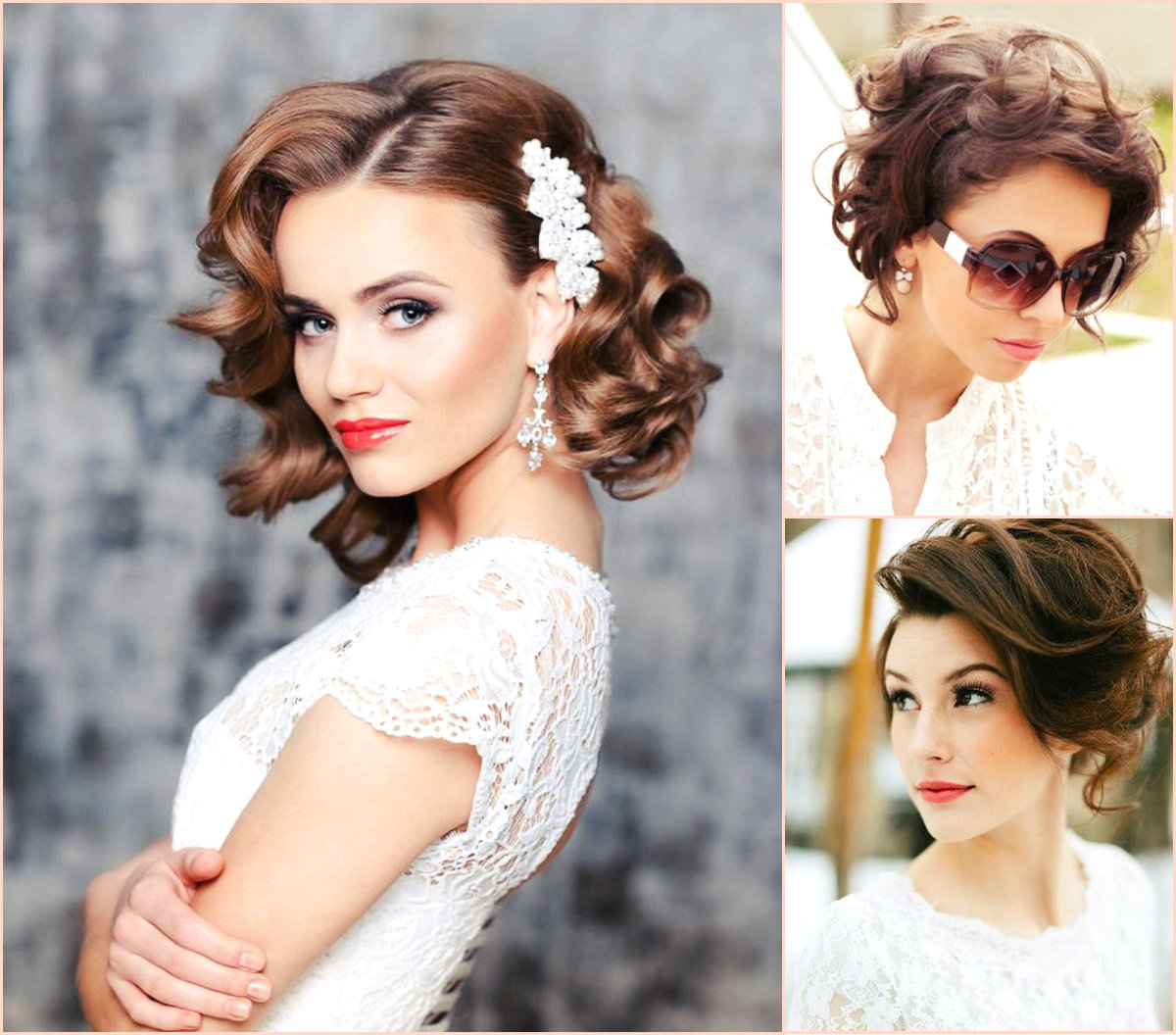 Best wedding bob hairstyles