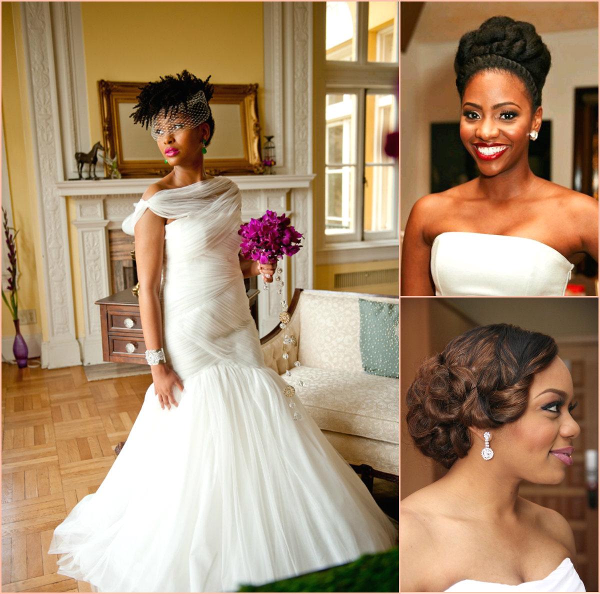 Charming Black Women Wedding Hairstyles