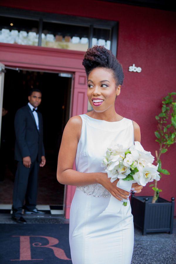 Elegant updo hairstyles for black wedding