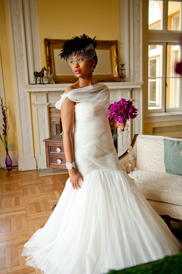 Short Wedding Hairstyles for black women