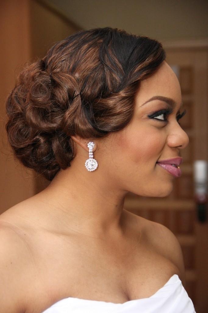 Cute downdo Black Wedding Hairstyles