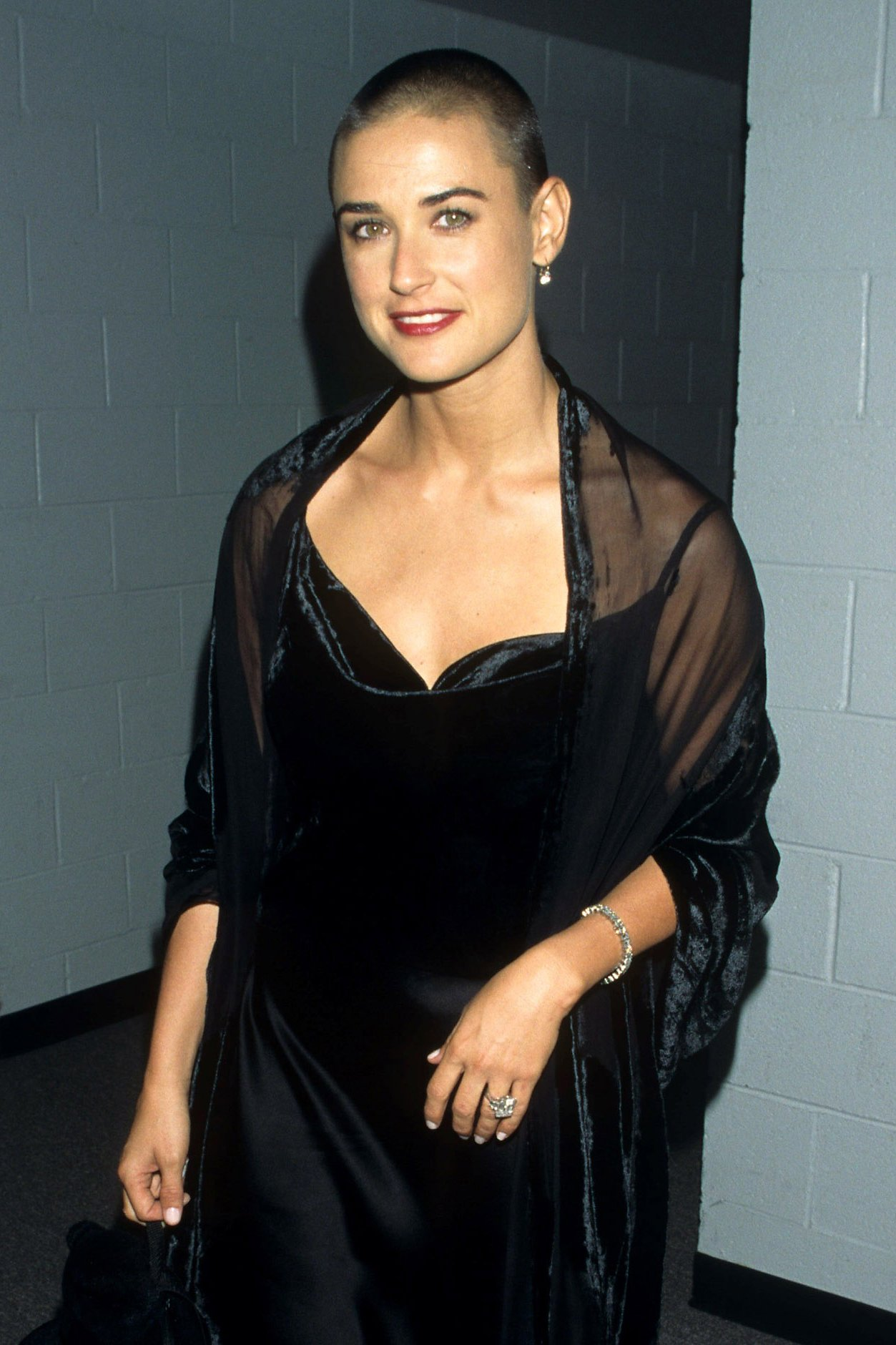 Demi Moore buzz cut hairstyles