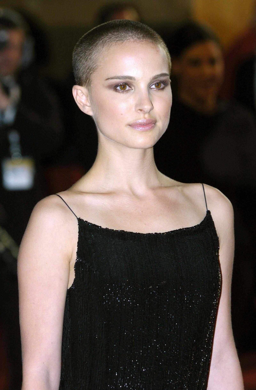 Natalie Portman buzz cut hairstyles