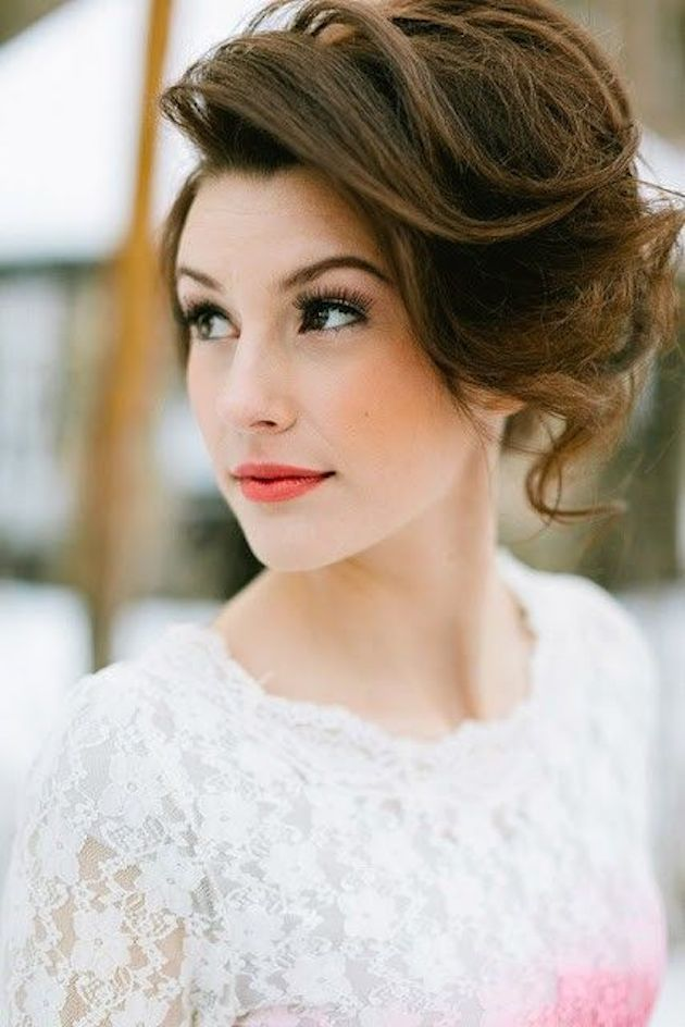 Summer wedding bob updo hairstyles