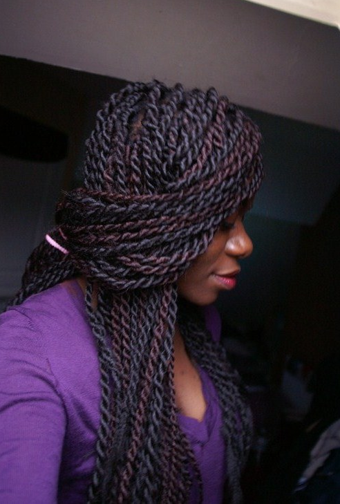 braided hairstyles for black women - huge twists