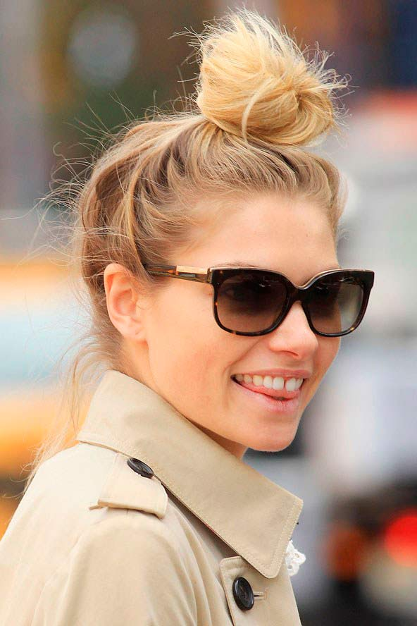 careless top knot hairstyles 2016