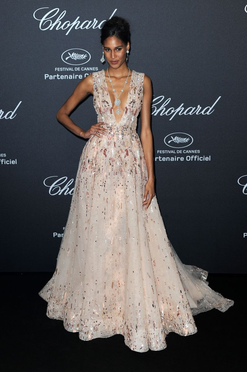 Cindy Bruna hairstyles 2016 Cannes - Chopard Wild Party