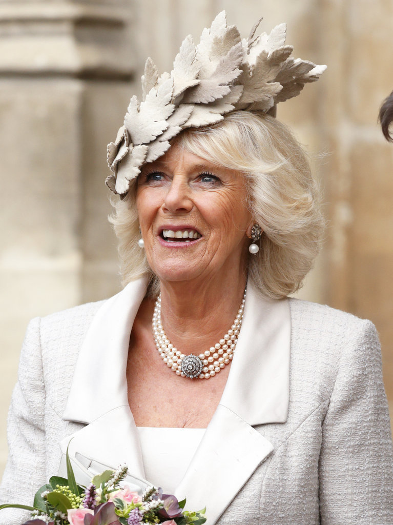 Duchess of Cornwal Camilla royal hairstyles and hair accessories