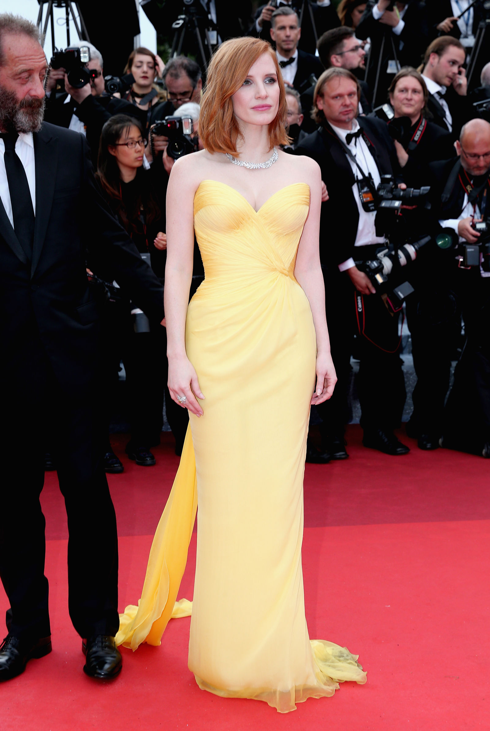 Jessica Chastain hairstyles Cannes 2016