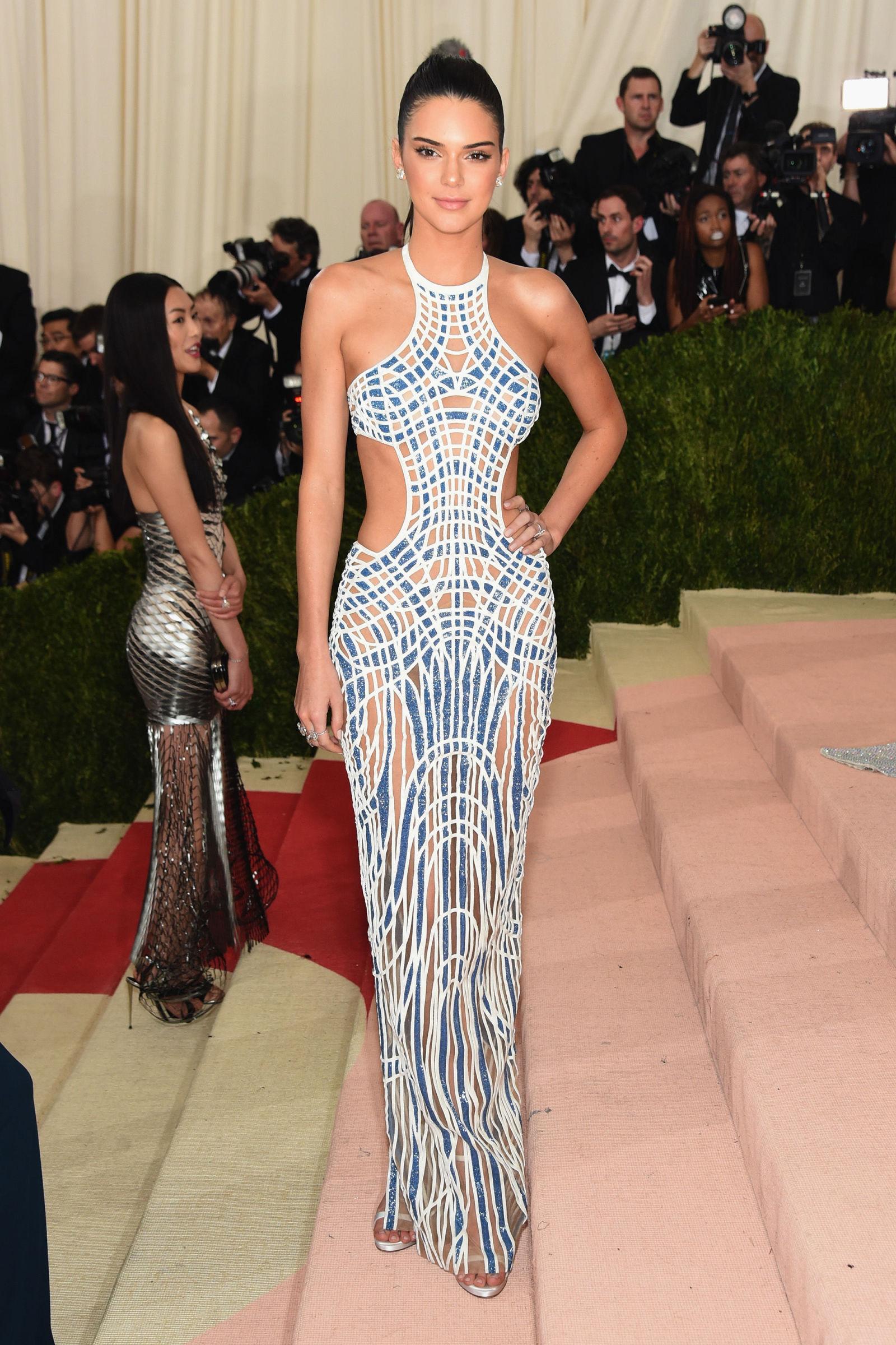 Kendall Jenner hairstyles at Met Gala 2016