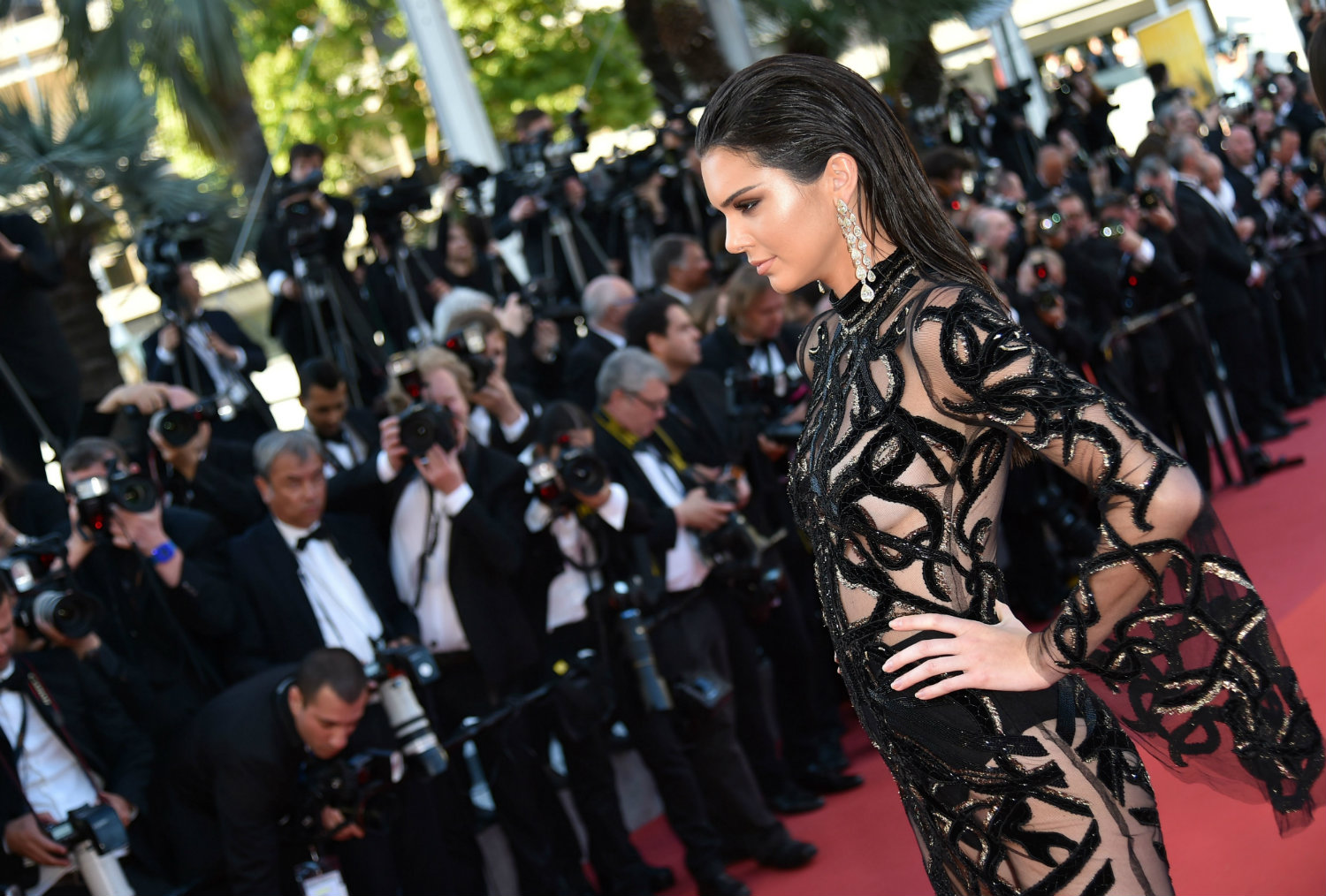 Kendall Jenner hairstyles from Cannes 2016
