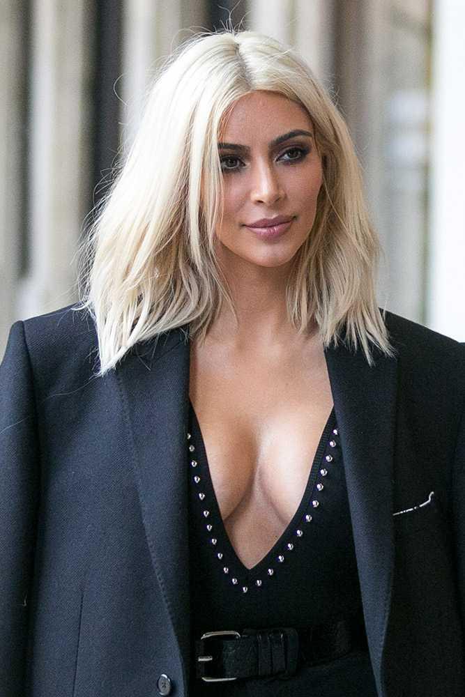 Kim Kardashian ice blonde hair colors