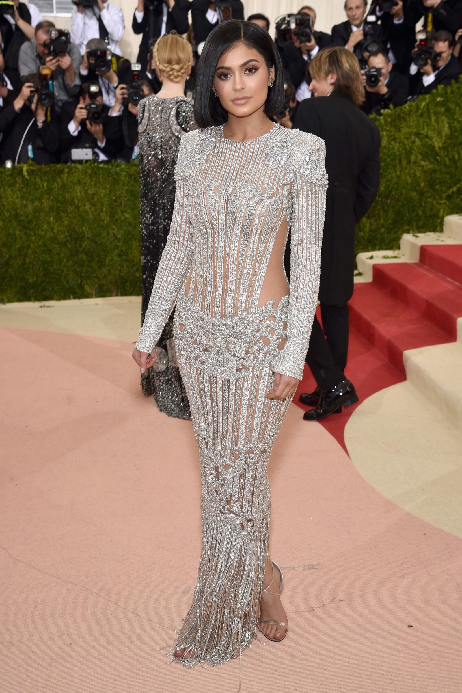 Kylie Jenner hairstyles at Met Gala 2016