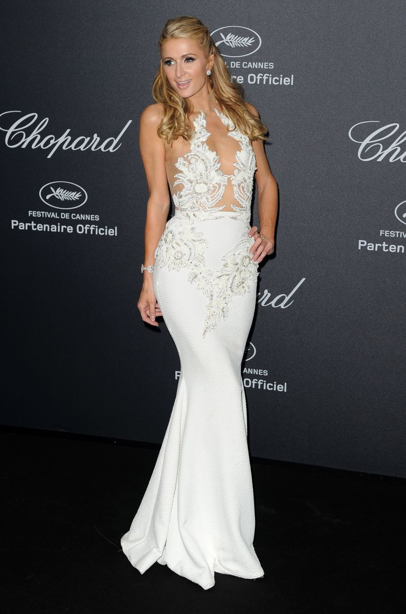 Paris Hilton hairstyles 2016 Cannes - Chopard Wild Party