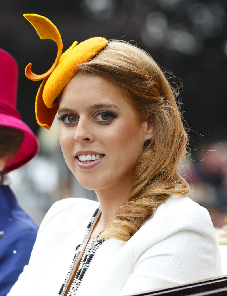 Princess Beatrice royal hairstyles and hair accessories 2016