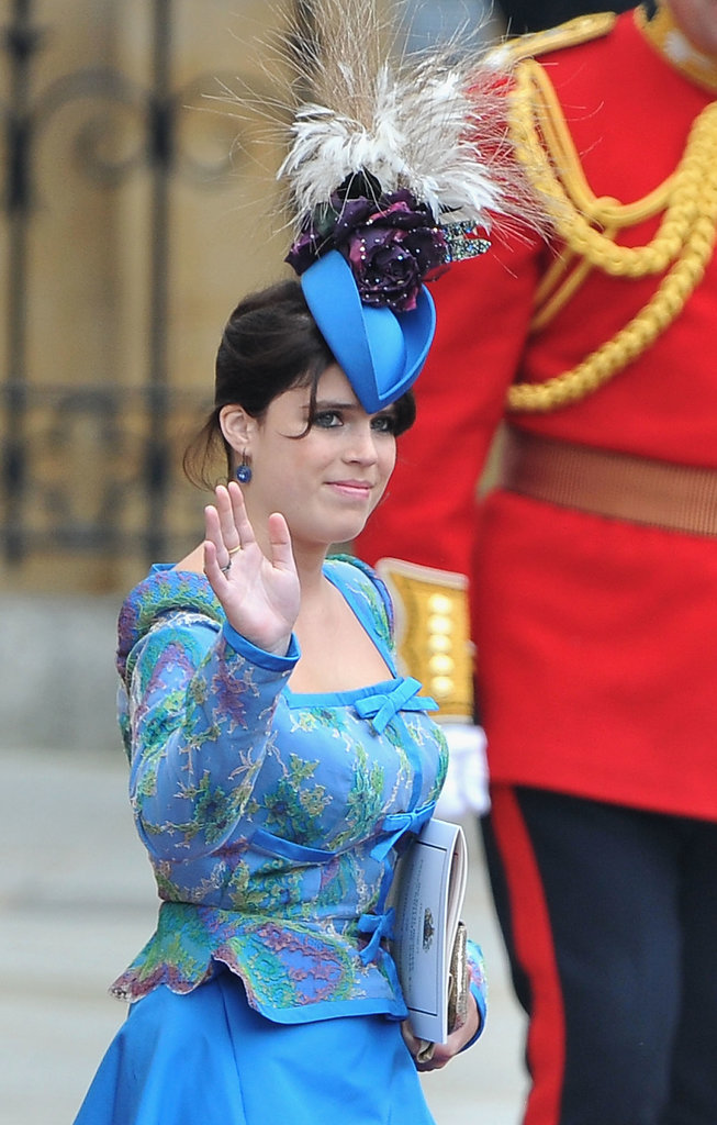 Princess Eugenie royal hairstyles and hair accessories