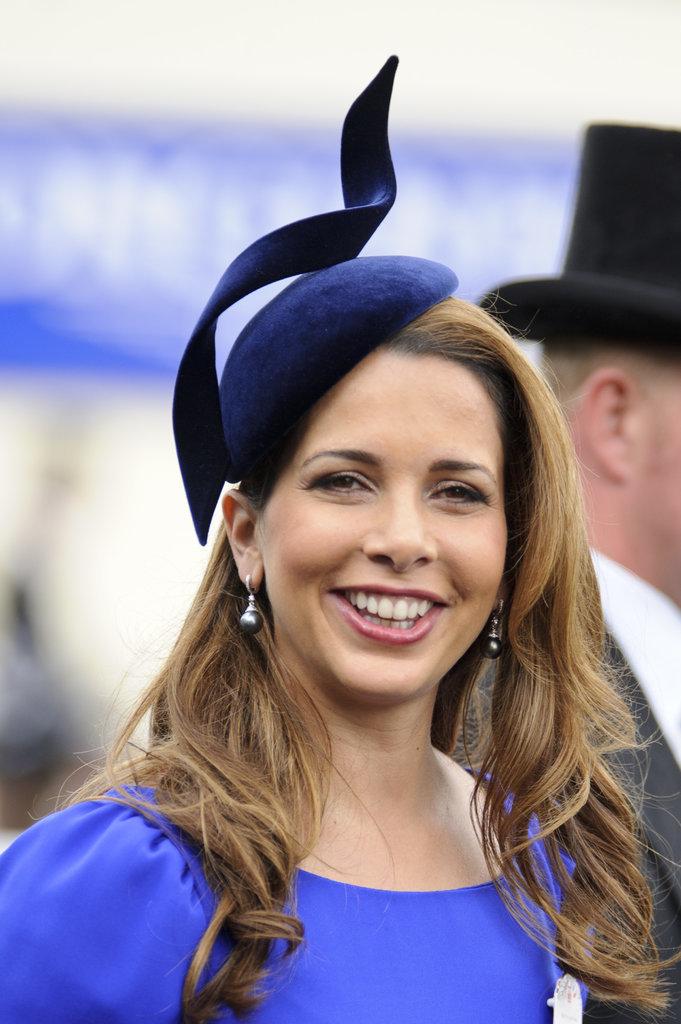 Princess Haya of Jordan royal hairstyles and hair accessories