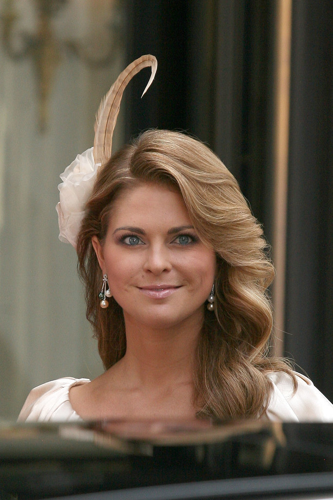 Princess Madeleine of Sweden royal hairstyles and hair accessories