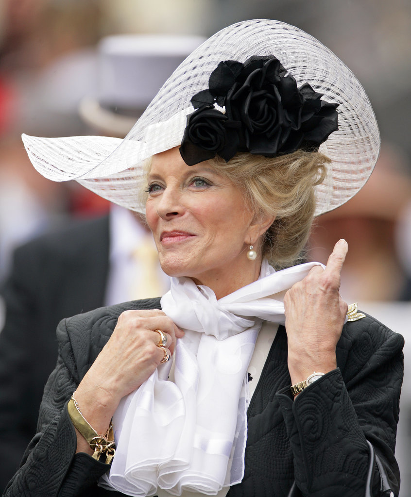 Princess Michael of Kent royal hairstyles and hair accessories