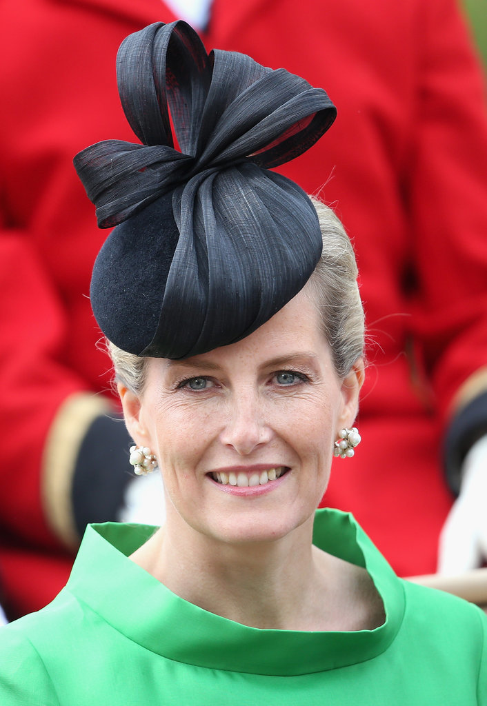 Sophie, Countess of Wessex royal hairstyles and hair accessories