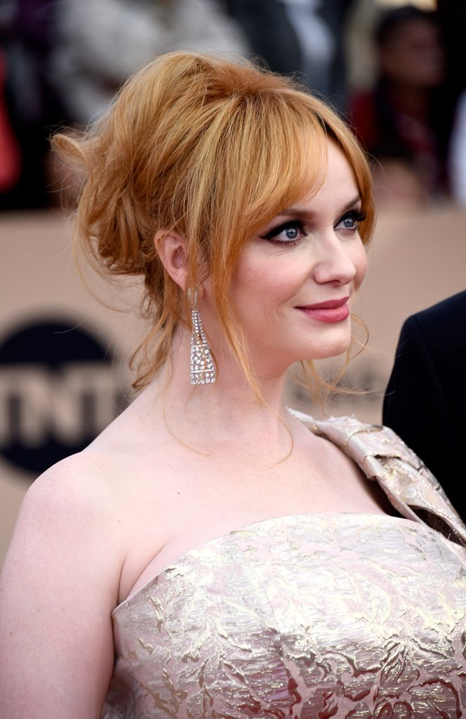 Christina Hendricks sweet updo at SAG 2016