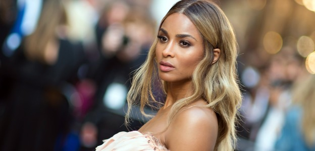 Ciara center parted hairstyle 2016 CFDA