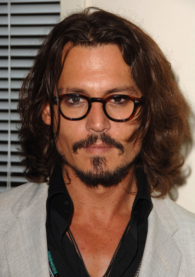 Johnny Depp mid length wavy hair