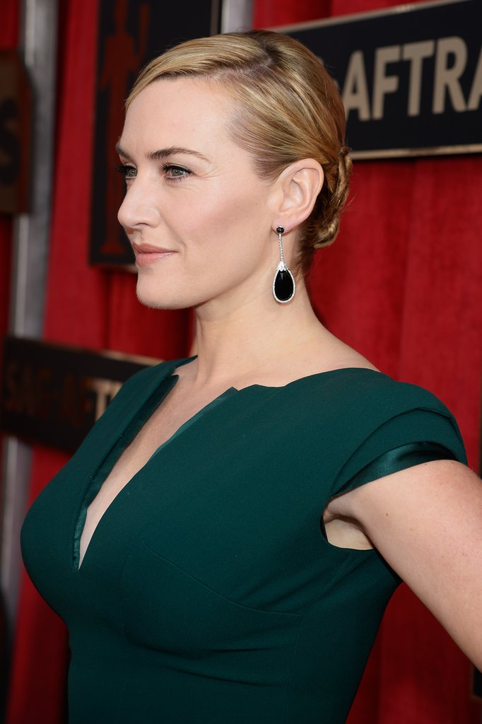Kate Winslet elegant downdo hairstyle
