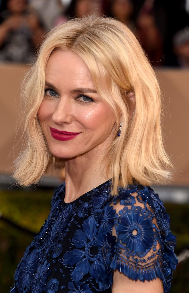 Naomi Watts blonde bob haircut 2016