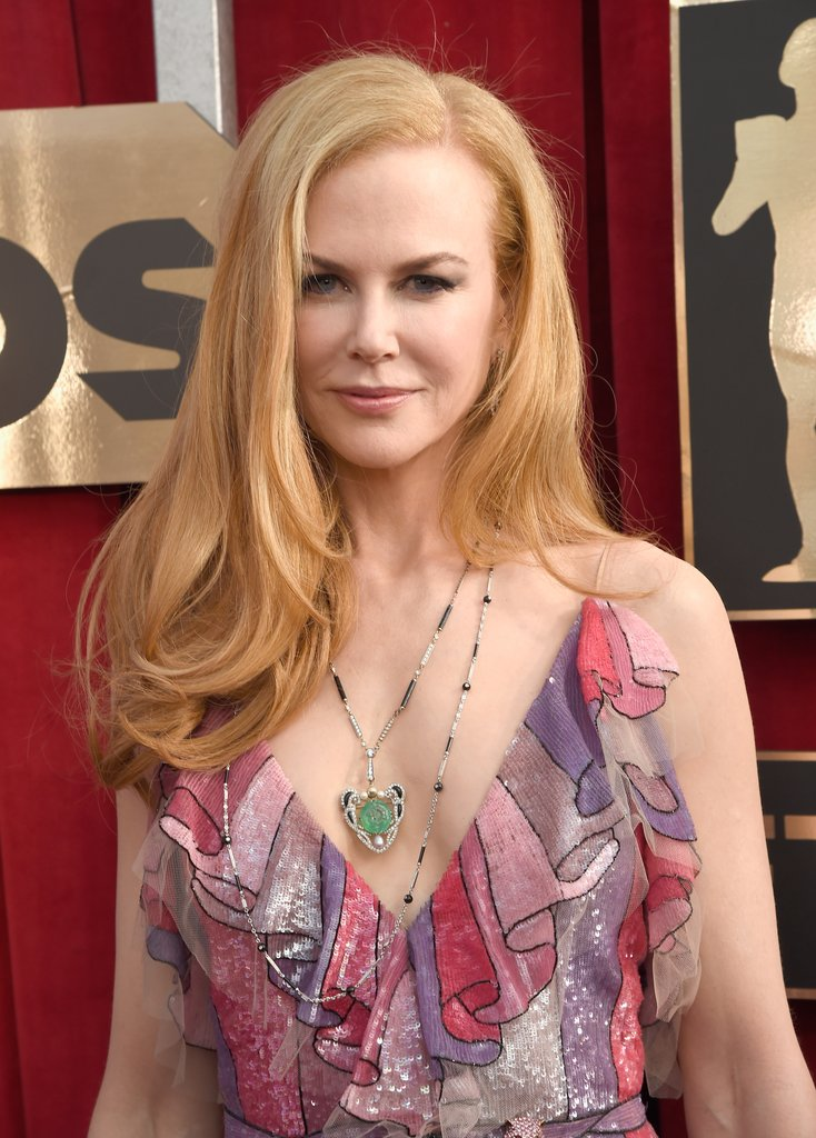Nicole Kidman long hairstyles 2016