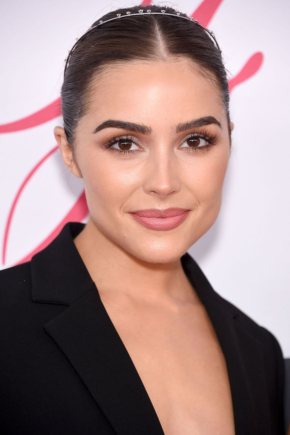 2016 CFDA Fashion Awards - Olivia Culpo slick mid-part