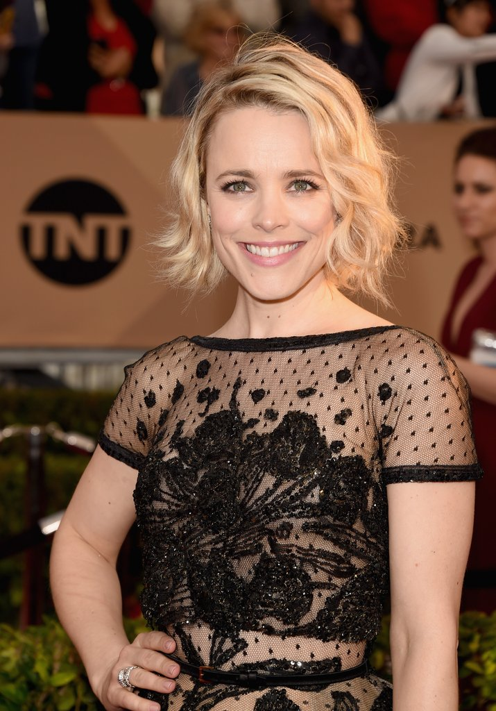 Rachel McAdams messy bob at SAG 2016