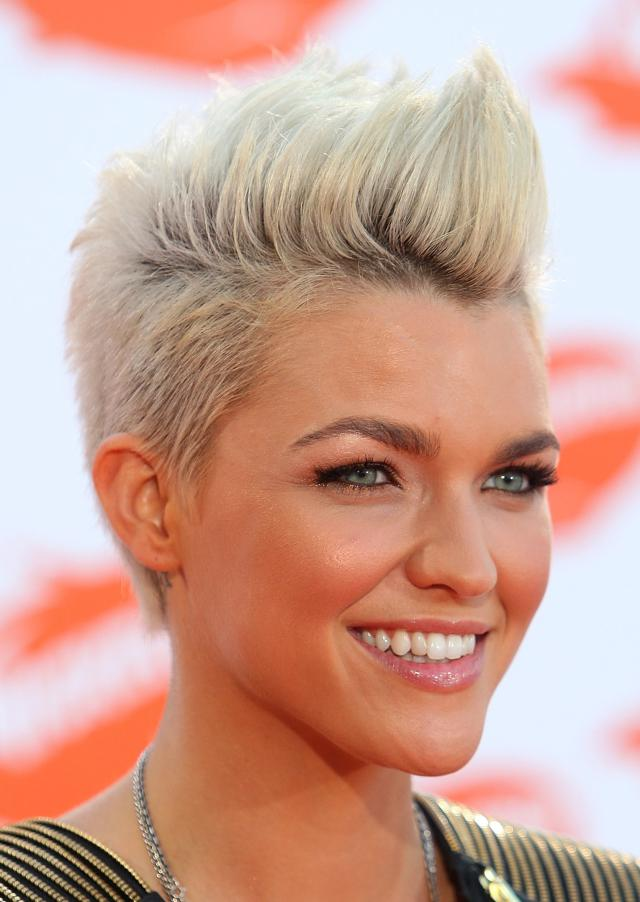 Ruby Rose short quiff hairstyle