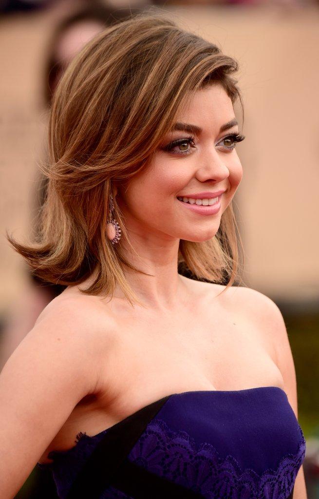 Sarah Hyland lob hairstyle
