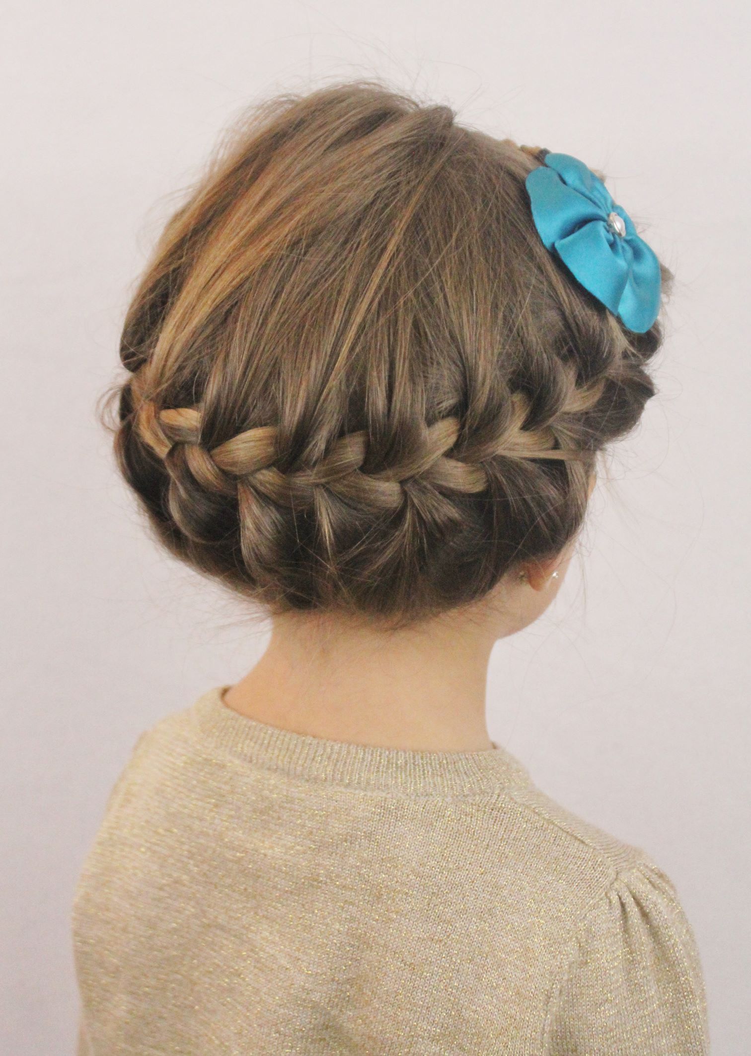 cute crown braid for little girls