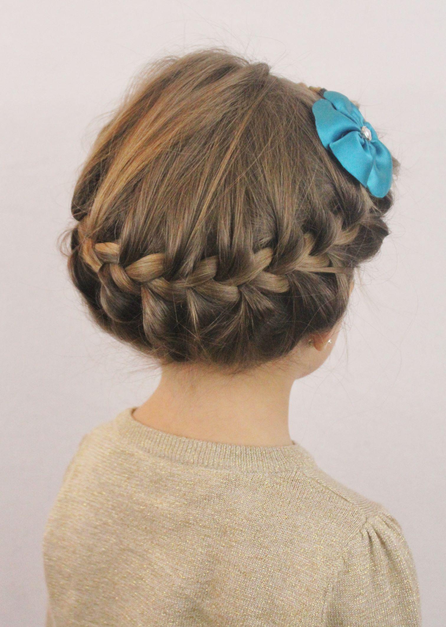 cute crown braid for little girls
