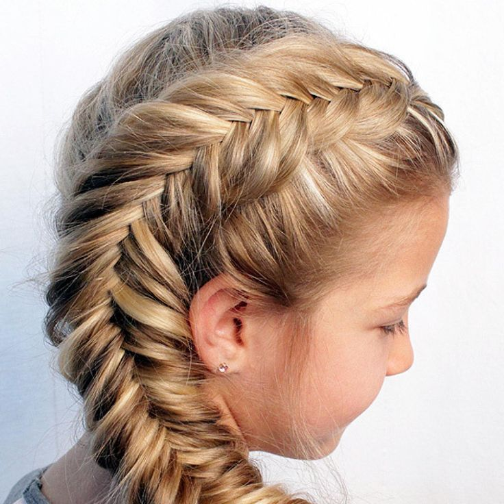 fishtail braids hairstyles for kids