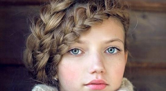 girls halo braids