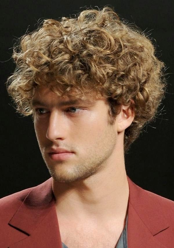 runway short wavy hairstyles for men