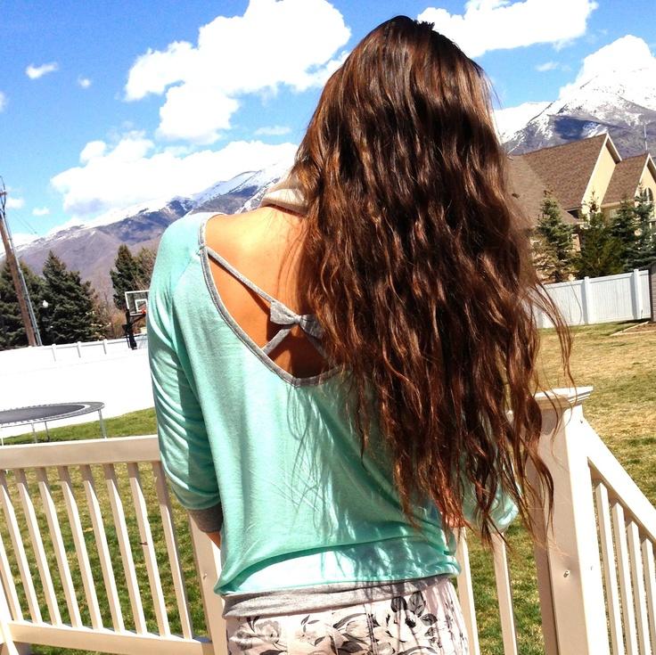 summer wavy hair
