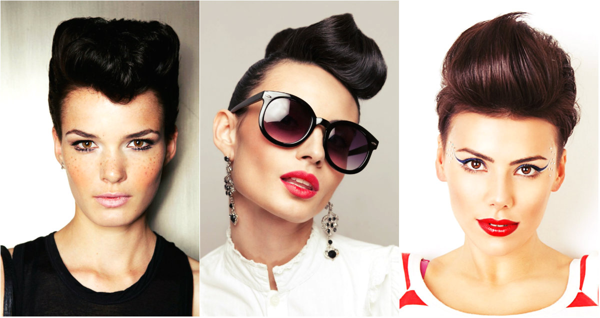 women quiff hairstyles