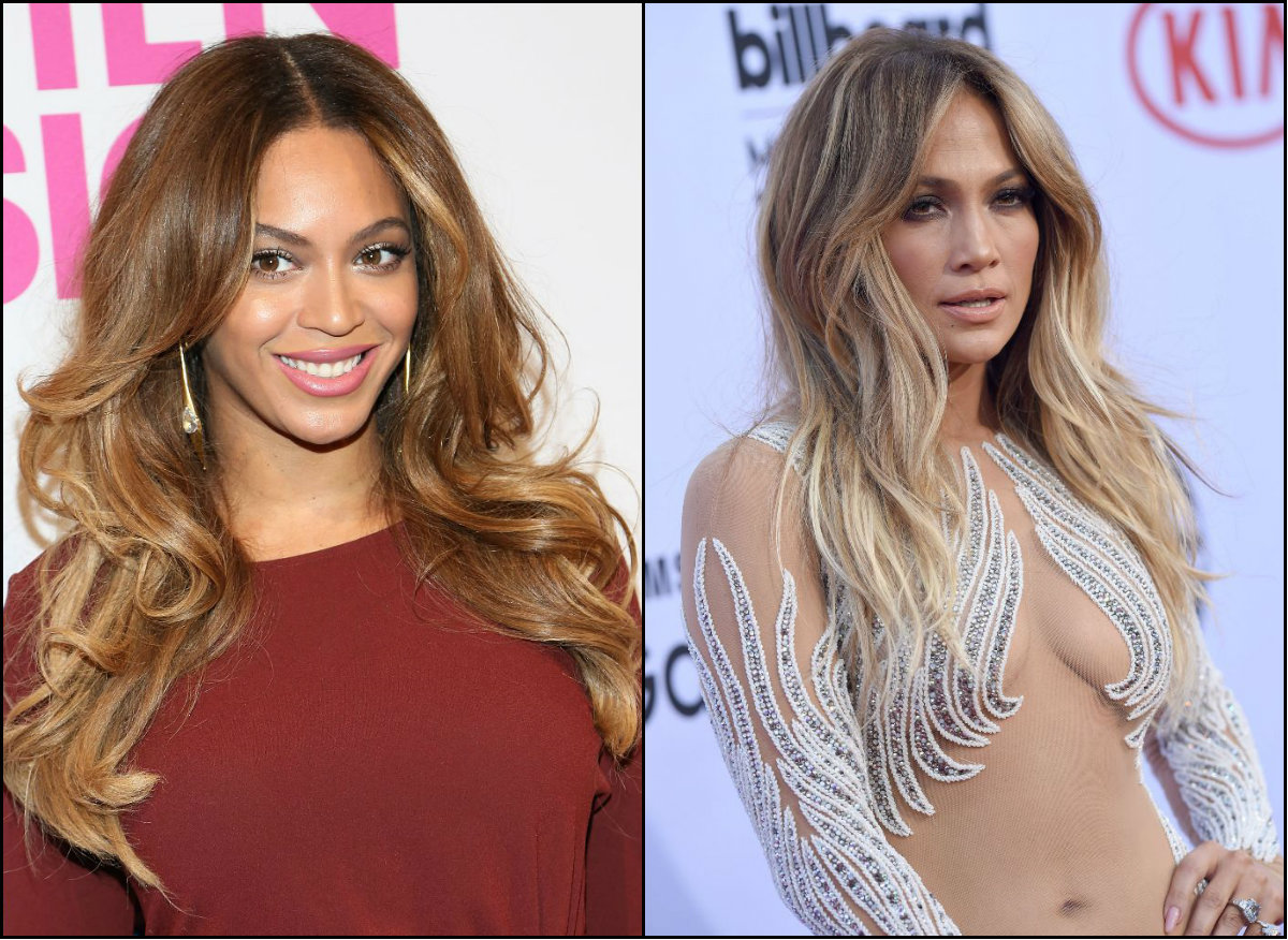 Beyonce and J Lo perfect balayge hair colors