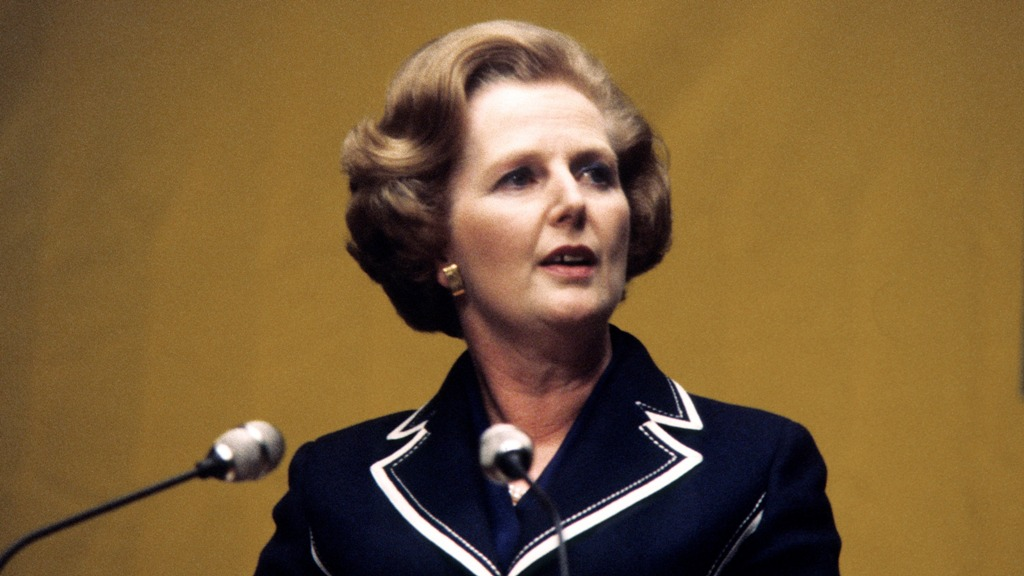 British PM Margaret Thatcher bob haircut
