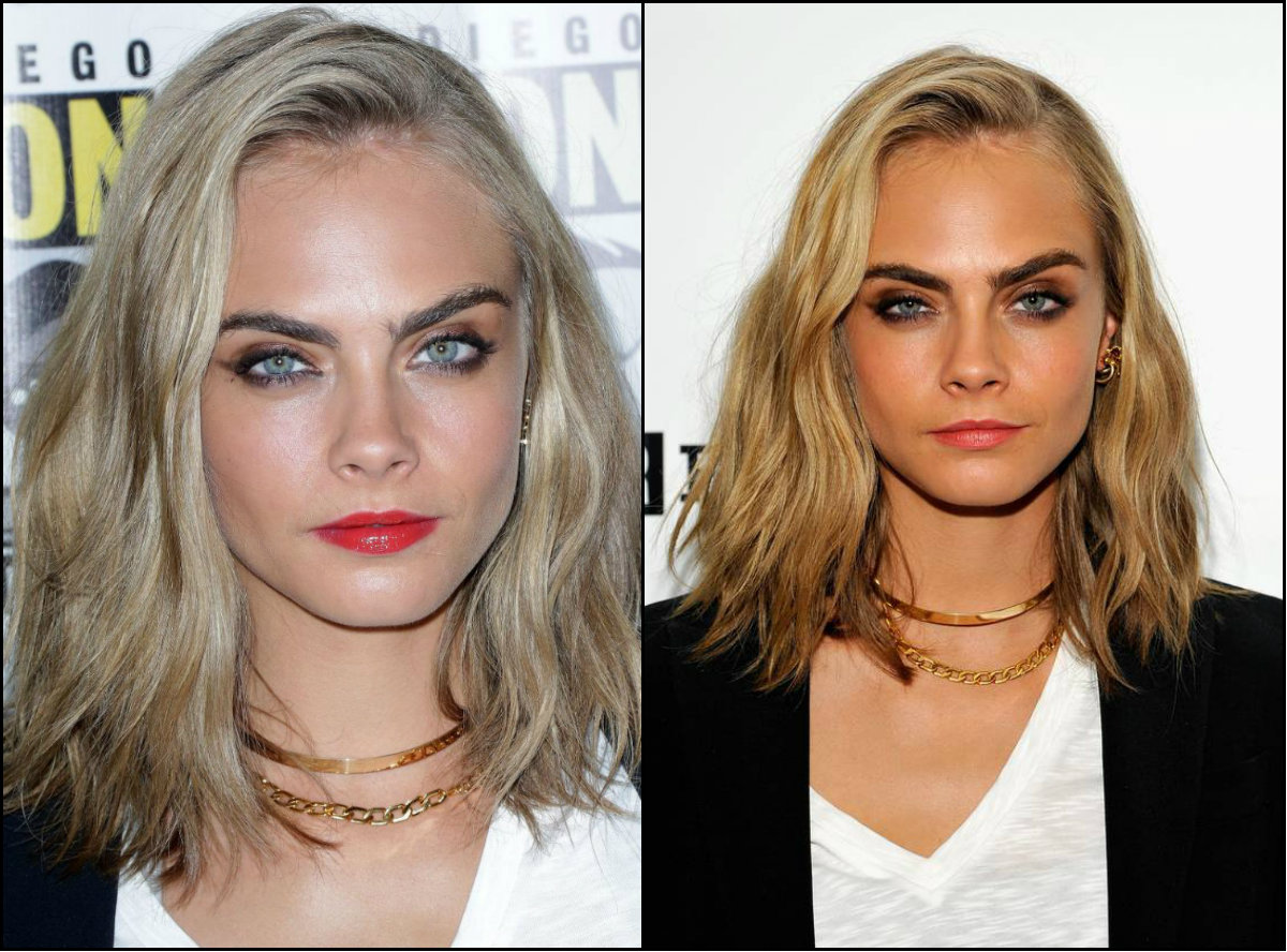 Cara Delevingne new blonde lob hairstyles 2016