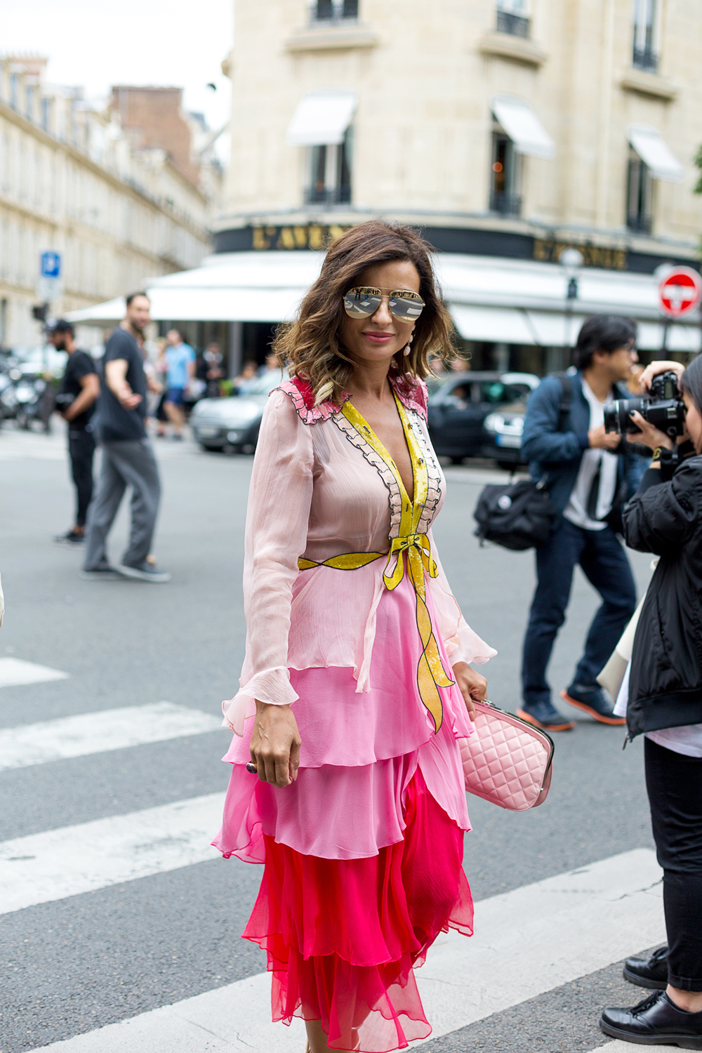 Casual side swept hairstyle in Paris
