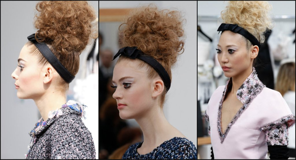 Chanel high bun hairstyles 2017 couture
