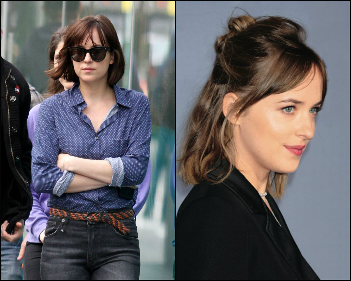 Dakota Johnson new bob hairstyles 2016