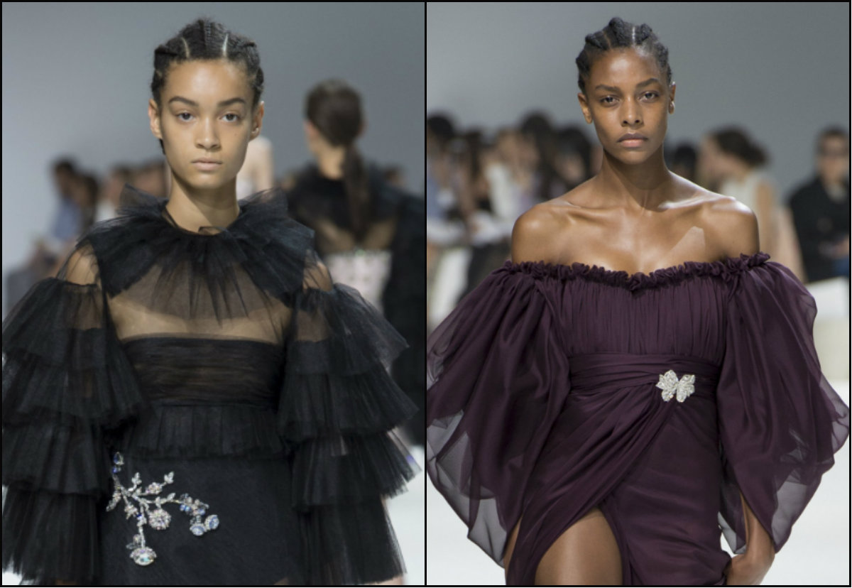 Giambatista Valli black women braids hairstyles from Couture show