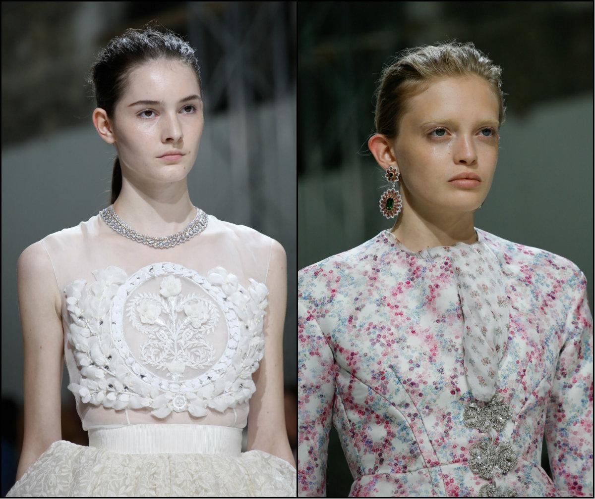 Giambattista Valli easy ponytail hairstyles 2017 couture