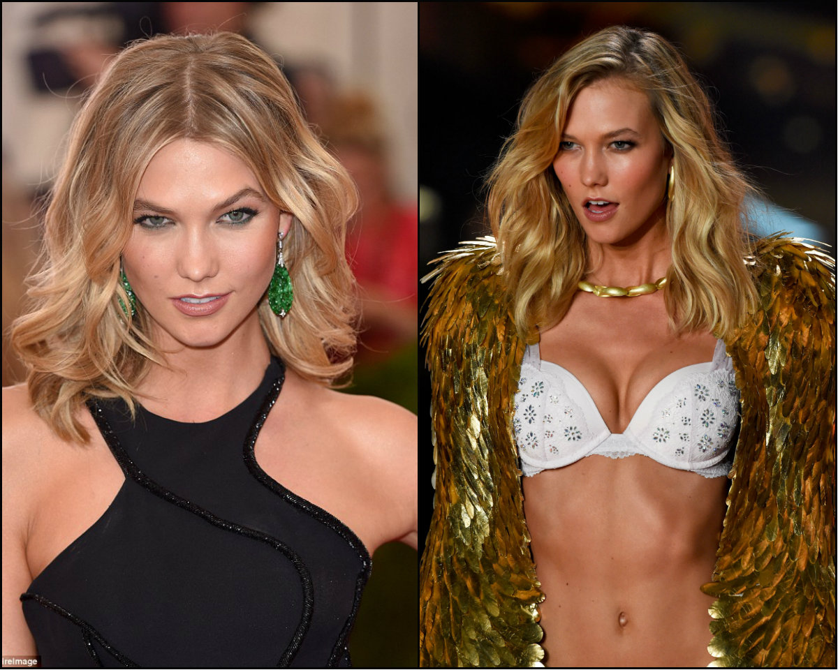 Karlie Kloss hairstyles at Victoria's Secret